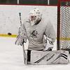 Billerica hockey goalie Connor Feeney at practice. (SUN/Julia Malakie)