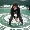 Billerica wrestling's Chris DeRosa, 17, a senior who wrestles in 120 lb weight class. (SUN/Julia Malakie)