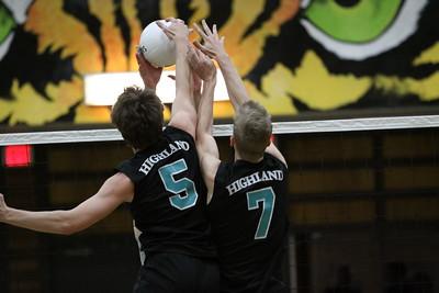 2013 Highland Boys Volleyball State Semifinals vs Mesa High