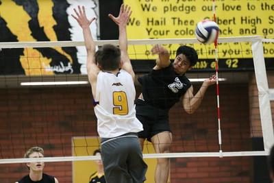 2016 Gilbert Boys Volleyball vs Mesa 4-21-16