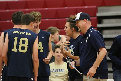 2017 Casteel Boys Volleyball at Williams Field 4-4-17