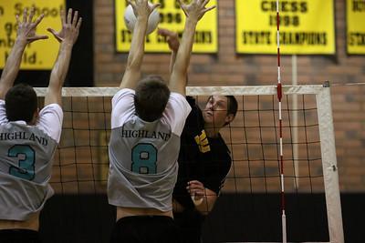 Boys Volleyball - Gilbert High School vs Highland High School - May 4, 2010
