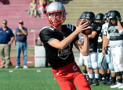Carmel football scrimmage 082815