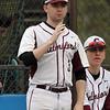 Chelmsford vs Haverhill baseball. Chelmsford High pitcher Ryan Shea, not pitching this game. (SUN/Julia Malakie)