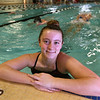 Chelmsford High swimmer, sophomore Neva Sa, 15, at practice at the Greater Lowell YMCA.  (SUN/Julia Malakie)