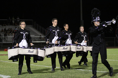 Williams Field High School Marching Band. Homecoming game against Desert Edge. Halftime show.   Black Hawks. WFHSIA