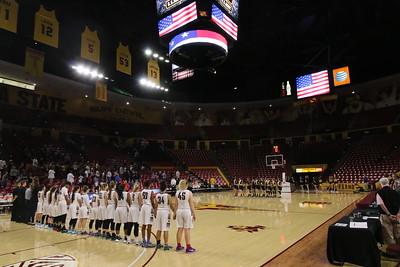 2015-2016 Gilbert Girls Basketball vs Hamilton - State Quarterfinals - Wells Fargo Arena 2-24-16