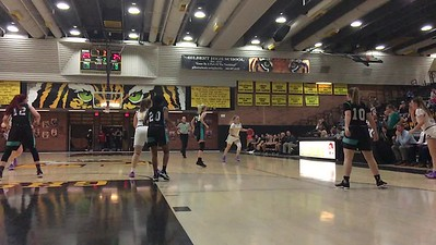 Haley Cavinder drives to the basket for 2 against Highland Girls Basketball. Gilbert Arizona 6A Basketball.