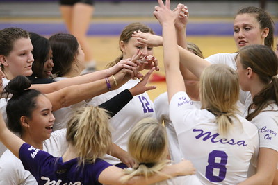 2017 Mesa High School Girls Volleyball vs Red Mountain 10-3-17
