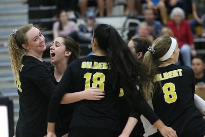 2018 Gilbert Girls Volleyball vs Casteel 9-18-18