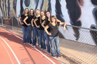 2010 Girls VB Program Pictures,Sarah Beene 3, Carie Foran 4, Hunter Howard 6, Emily Masterson 8, Macey Gardner 12, Cat O'brien 13, Juniors.