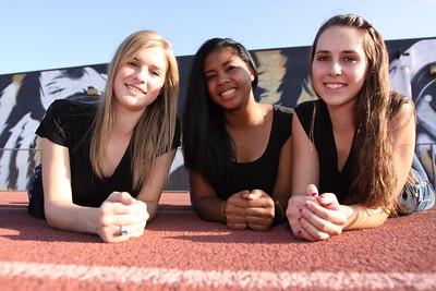 2010 Girls VB Program Pictures,Penina Snuka 2, Kayla Lederer 5,Tatum Lostumo 7, Sophomores