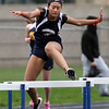 Greater Lowell, Notre Dame Academy & Northeast Tech track meet. Greater Lowell's Elizabeth Phan in 400M Hurdles. (SUN/Julia Malakie)