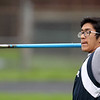 Greater Lowell, Notre Dame Academy & Northeast Tech track meet.  Greater Lowell's Devan Long in Javelin. (SUN/Julia Malakie)