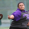 Greater Lowell, Notre Dame Academy & Northeast Tech track meet. Pamela Moz of Northeast Tech in Discus. (SUN/Julia Malakie)
