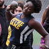 Greater Lowell, Notre Dame Academy & Northeast Tech track meet. NDA's Julianna Muiruri in Shot Put.  (SUN/Julia Malakie)