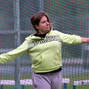 Greater Lowell, Notre Dame Academy & Northeast Tech track meet. Greater Lowell's Mollie Pimentel in Discus.  (SUN/Julia Malakie)