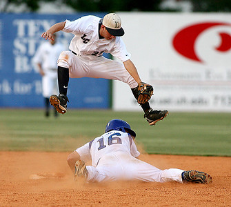 May 29, 2008 - The Lamar Mustangs face Friendswood in Game 1 of the Region III-4A championship series at Cougar Field in Houston. Friendswood won the game 4-3.