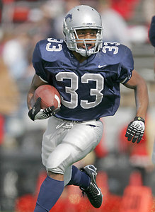 Lamar Consolidated running back Jacquizz Rodgers rushed for 249 yards and scored five touchdowns as the Mustangs defeated Caney Creek 40-10 in the Division I, Region III-4A finals December 2, 2006.