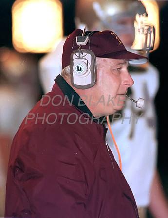 St. E's football head coach Joe Hemphill during December 5, 1999 Div II State Football Championship.photo/Don Blake