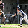 Littleton vs Bromfield baseball. Bromfield catcher Alex Megan tag out Littleton's Nick Pelrine (4) trying to score in the bottom of the fifth inning. (SUN/Julia Malakie)