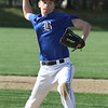 Littleton vs Bromfield baseball. Bromfield pitcher Rory VanDorpe (21). (SUN/Julia Malakie)