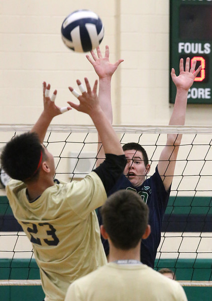 Lowell Catholic Malden volleyball 041918