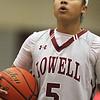 Lowell vs Lawrence girls basketball. Shyan Mwai of Lowell (5).  (SUN/Julia Malakie)