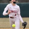 Lowell vs Westford Academy softball. Lowell pitcher Giana LaCedra, who set a school record for strikeouts. (SUN/Julia Malakie)