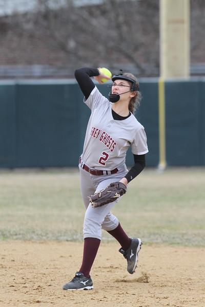 Lowell vs Westford Academy softball.  (SUN/Julia Malakie)