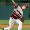 Lowell vs BC High in MIAA baseball Division 1A tournament. Lowell starting pitcher Timothy Scott. (SUN/Julia Malakie)