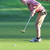 Lowell vs Tyngsboro golf. Tyngsboro's Josh Savoie putts on 7th hole. (SUN/Julia Malakie)