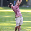 Lowell vs Tyngsboro golf. Tyngsboro's Kevin Carpenter hits from the 5th fairway. (SUN/Julia Malakie)