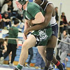 MIAA Division 1 North Sectional championships at Methuen High School. Stevenson Theosmy of Lawrence, right, won 6-2 over Mark Gentile of Billerica, left, in 182 lb quarter final. (SUN/Julia Malakie)