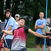 MVC track & field championships. Collin Wilkey of Lowell competes in javelin. SUN/Julia Malakie