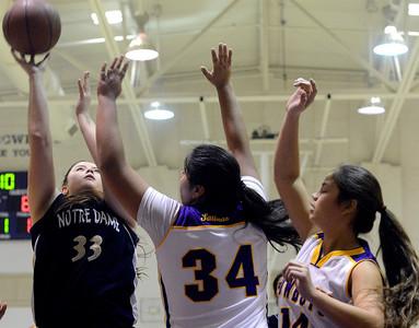 Notre Dame vs. Salinas Girls basketball 012814