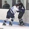 Shawsheen Tech vs Greater Lowell/Nashoba Tech boys hockey. GLNT's Cal Norris (20) and Shawsheen Tech's Sean Murphy (14).   (SUN/Julia Malakie)