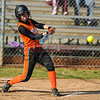 Madison Moats line drive back to the pitcher to start the game.