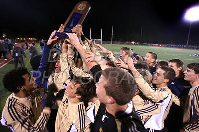 Salesianum celebrates after winning the Boys State Soccer Championship at Caravel Academy, Saturday, November 19, 2011. The Dialog/Don Blake Photography.com