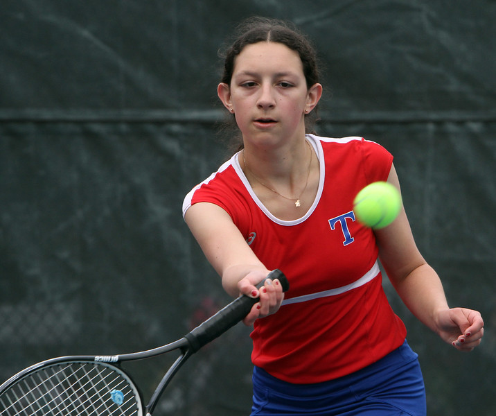 Tewksbury vs Notre Dame Academy girls tennis. Tewksbury 2nd Singles Alexia Chesbrough. (SUN/Julia Malakie)
