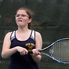Tewksbury vs Notre Dame Academy girls tennis. NDA 3rd Singles Sarah Houston. (SUN/Julia Malakie)