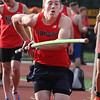 Tewksbury vs North Andover girls and boys track & field. Jack Kelly of Tewksbury competes in pole vault. (SUN/Julia Malakie)
