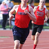 Tewksbury vs North Andover girls and boys track & field. Pat Carleton of Tewksbury in 2 Mile. (SUN/Julia Malakie)