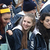 Tewksbury vs Wilmington Thanksgiving Day football. Wilmington marching band members, from left, Siobhain Murphy, Kat Kelley, and Angelyn Ciampa. (SUN/Julia Malakie)