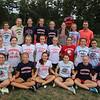 Tewksbury girls cross country team with coach Peter Molloy. (SUN/Julia Malakie)