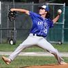Tyngsboro vs Lunenburg baseball. Lunenburg relief pitcher Shea Gendron (20). SUN/Julia Malakie