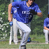 Tyngsboro vs Lunenburg baseball. Lunenburg's Nathan Handy (21) runs on a ground ball but was out in the bottom of the fourth inning.  SUN/Julia Malakie