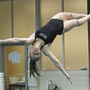 Westford Academy vs Weston swimming and diving. WA diver Kelsey Halio. (SUN/Julia Malakie)