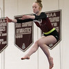 Westford Academy vs Groton-Dunstable gymnastics.  Erin Cragg of Westford Academy on beam. (SUN/Julia Malakie)