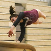 Westford Academy vs Groton-Dunstable gymnastics. Jelina Farrell of Westford Academy on vault. (SUN/Julia Malakie)